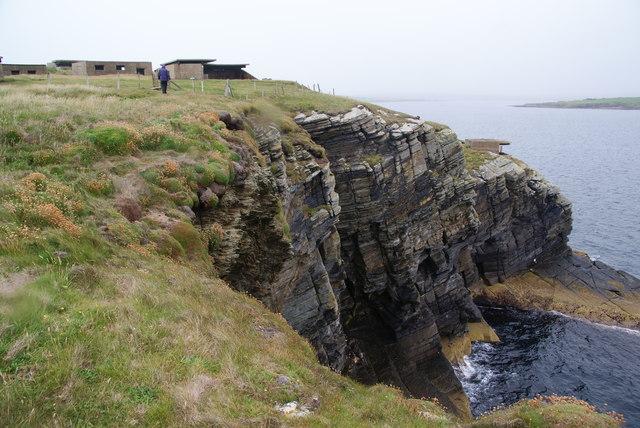 Cliffs at Hoxa Head