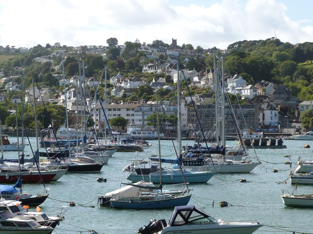 View across Dartmouth Harbour from the Paignton - Kingswear train