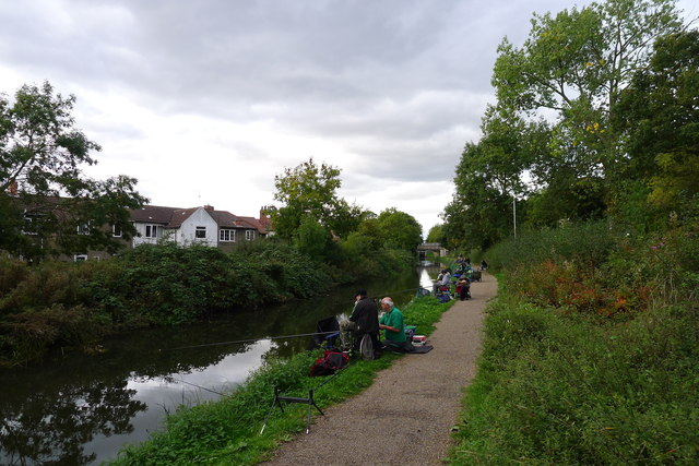 Fishing match on the Chesterfield Canal