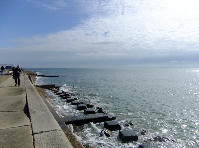 The seawall west of Selsey Bill