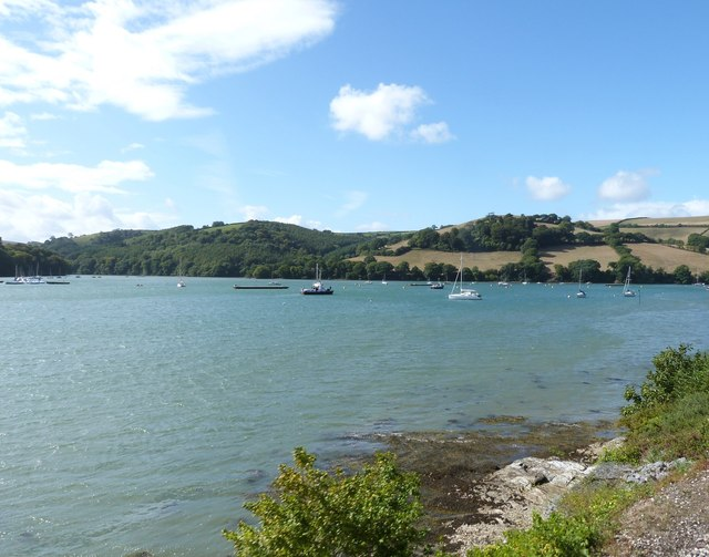 The River Dart looking North-west