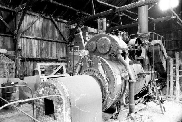 J Brace & Sons Ltd, saw mills, High ongar - steam engine