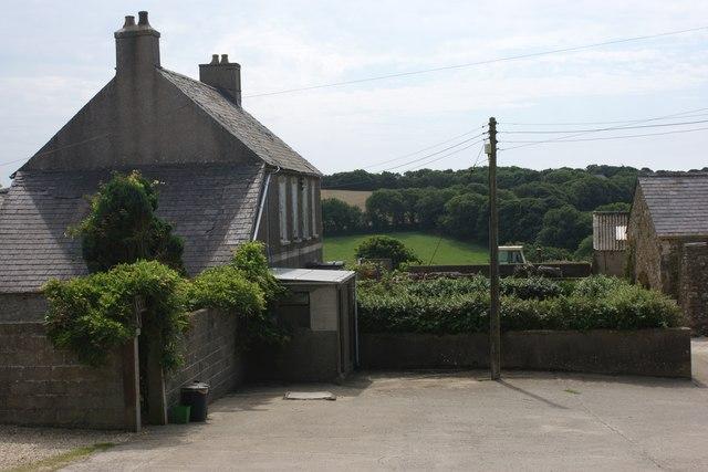 Brawdy Farm and farmyard