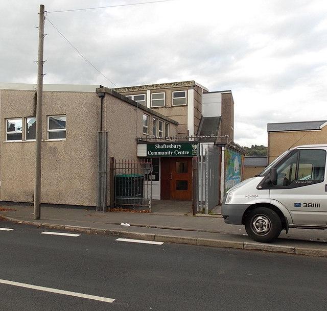 Entrance to Shaftesbury Community Centre, Crindau, Newport