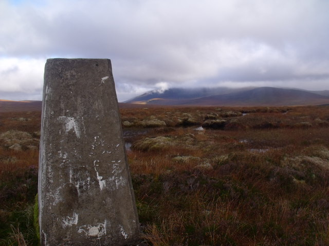 Trig point on Cnoc an Alaskie near Crask Inn, Sutherland