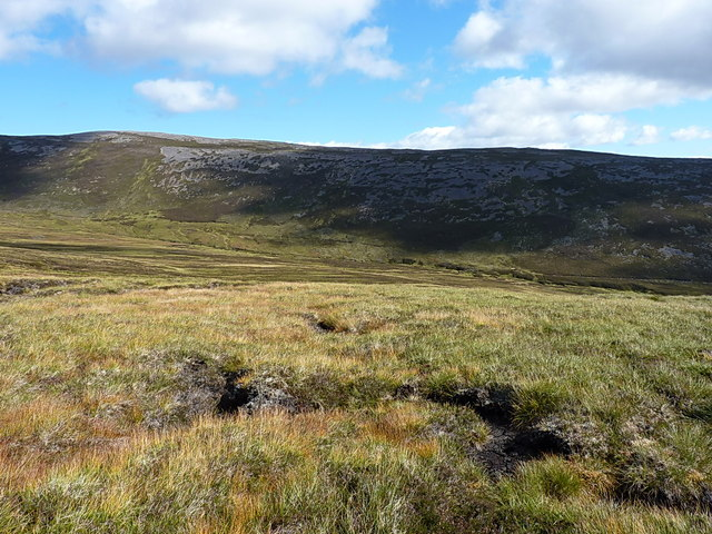 Across the Glas Allt Beag to the southern ridge of Carn Liath