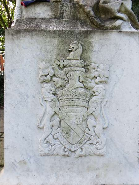 Crest on the statue