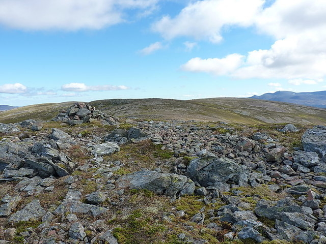 Carn Liath and Lochnagar from the lower summit
