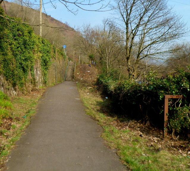 Riverside path to Cwmavon Road south of Cwmavon