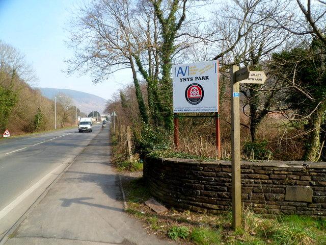 Ynys Park board near Cwmavon