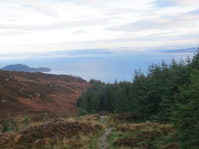 Kintyre Way overlooking Loch Fyne