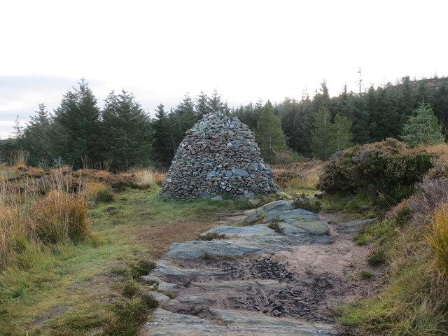 Millennium cairn beside the Kintyre Way above Tarbert