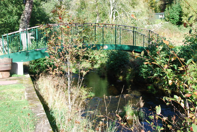 Footbridge over the Knockando Burn