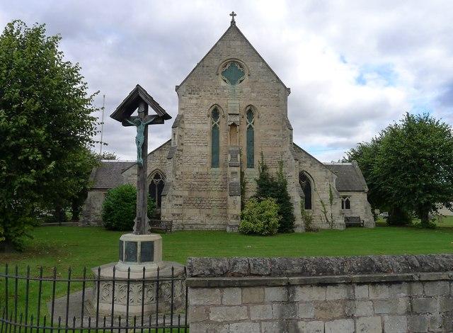 War memorial and Church of St Luke's, Shireoaks