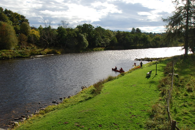 Canoeists on the Spey