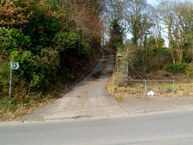 Public footpath alongside Nant Cwm-clais, Cwmavon