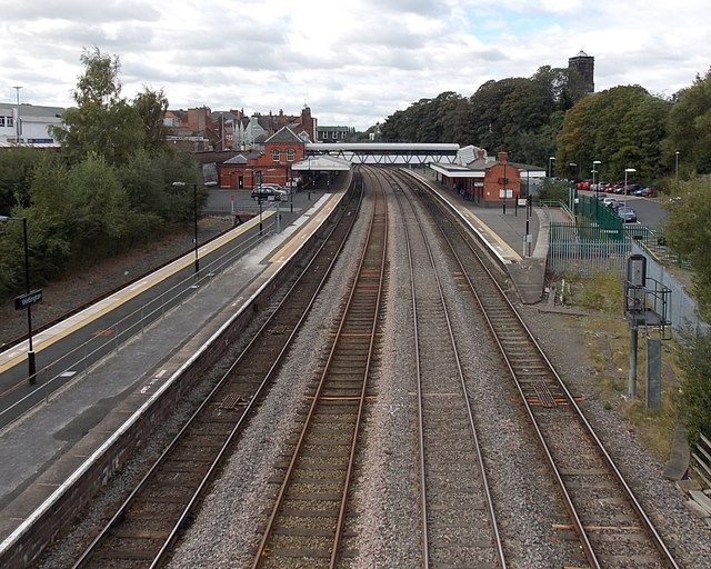 Wellington railway station from Victoria Road bridge