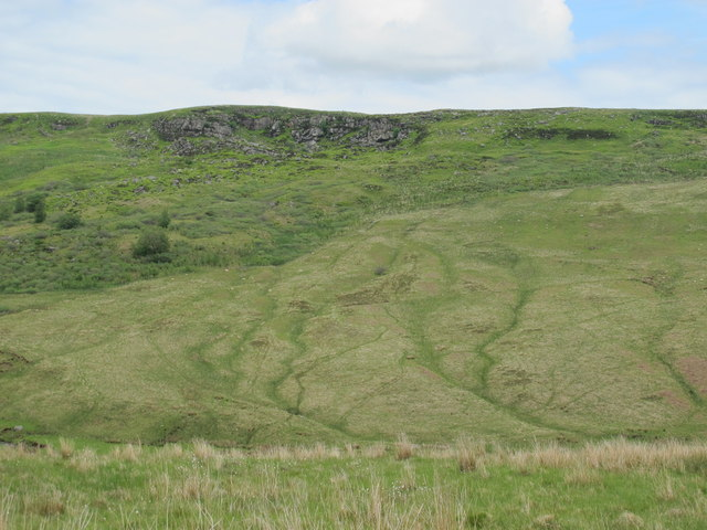 The valley of Cottonshope Burn below Great Dour (2)