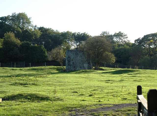 Field of Palace Farm with remains of the Bishop's Palace