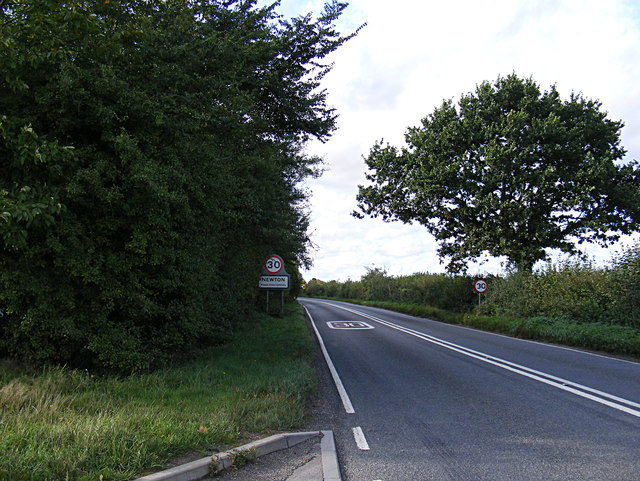 Entering Newton on the A134 Assington Road