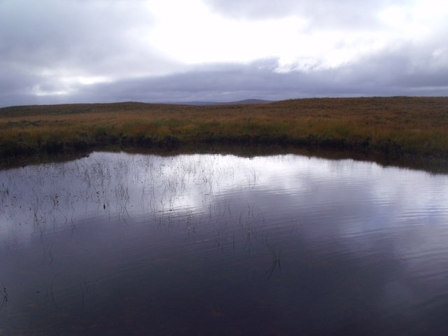 Outflow of Loch an Fheoir near Crask Inn, Sutherland