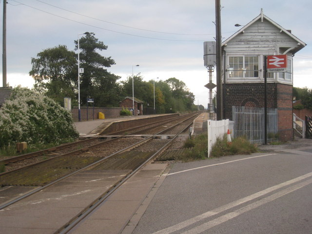 Saltmarshe station and signalbox