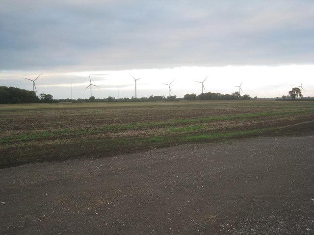 View towards Balkholme wind farm