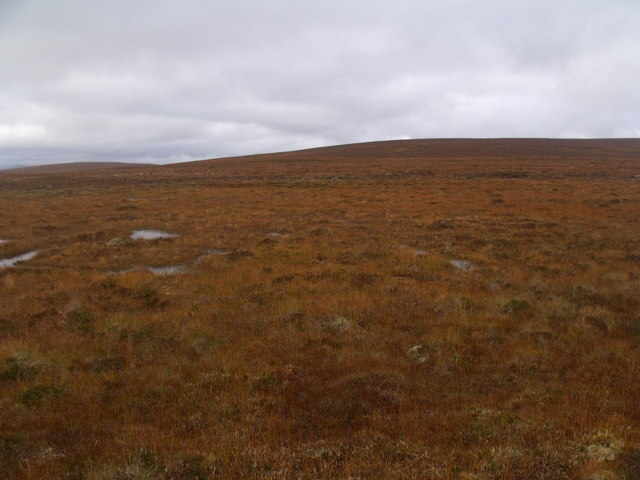 Looking west on boggy ground near Crask Inn, Sutherland
