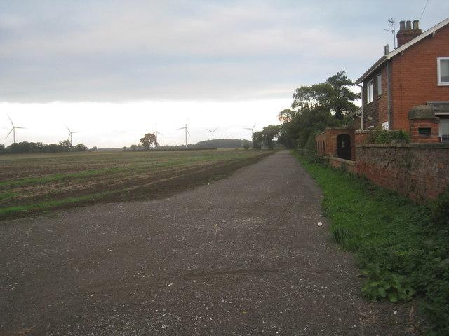 Track alongside the railway