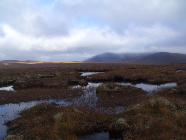 Looking east from the summit of Cnoc an Alaskie near Crask Inn, Sutherland