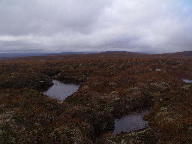 Looking west from summit of Cnoc an Alaskie near Crask Inn, Sutherland