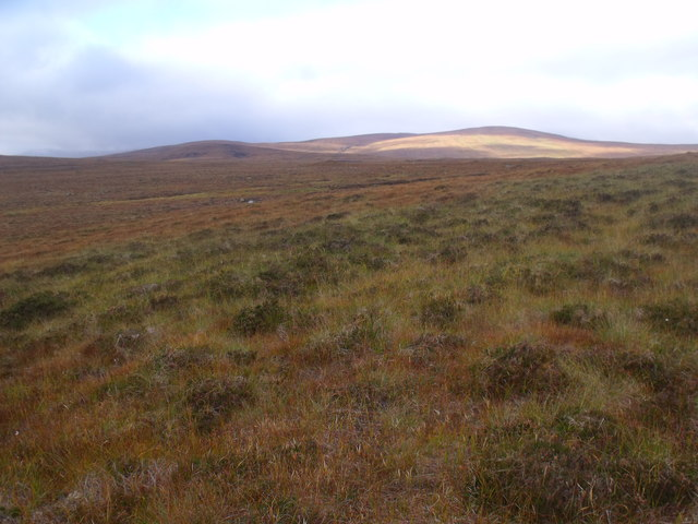 Moorland west of Cnoc an Alaskie near Crask Inn, Sutherland