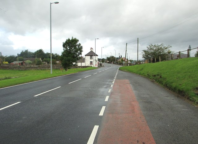 Looking towards Closeburn on the A76