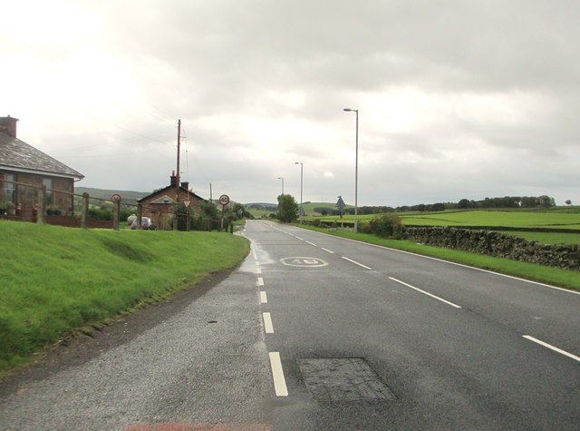 A76 heading out of Closeburn