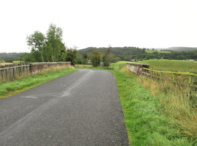 A bridge over the Dumfries to Glasgow railway line