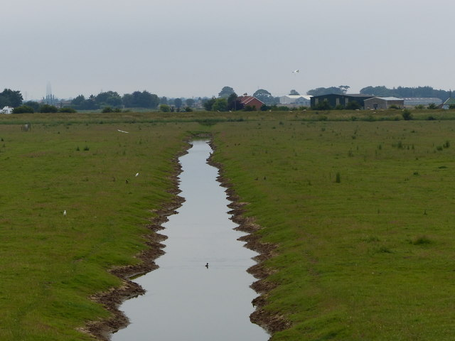 Drainage ditch at Freiston Shore Nature Reserve