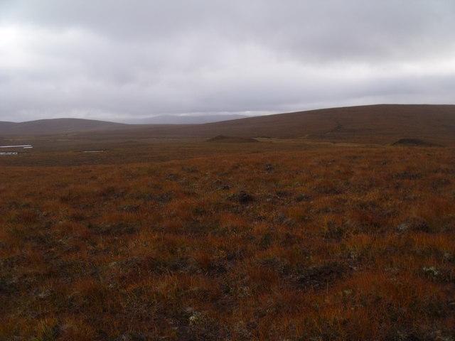 The course of Allt an Ulbhaidh below the east flank of Cnoc a' Mhaoil Ruaidh