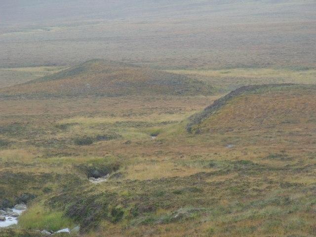 Morraine features by Allt an Ulbhaidh west of Crask Inn, Sutherland