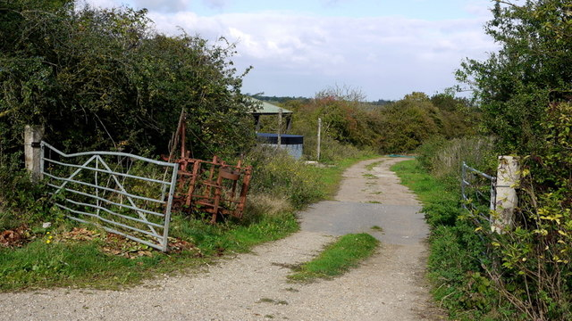 Farm track next to the old railway line