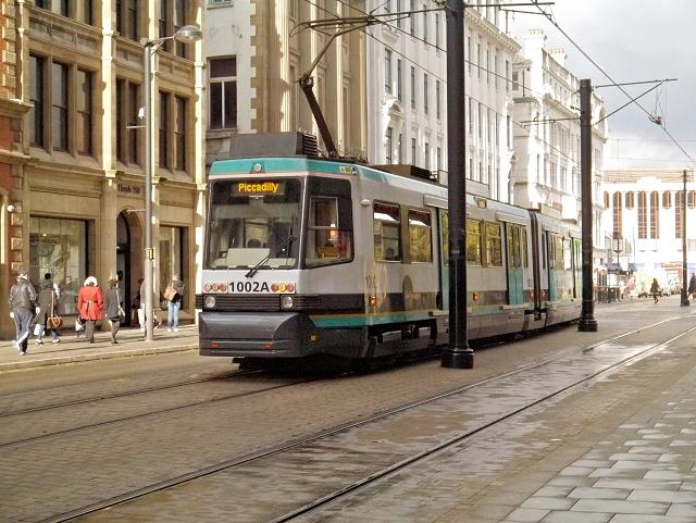Metrolink Tram on Moseley Street