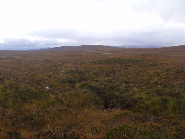 Minor burn course on lower slopes south-west of Cnoc an Alaskie near Crask Inn, Sutherland