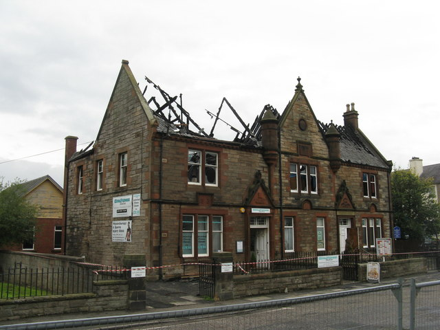 Fire damaged fitness studio and community centre