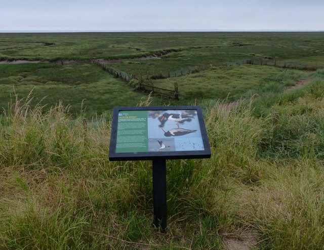 Information board on the sea bank