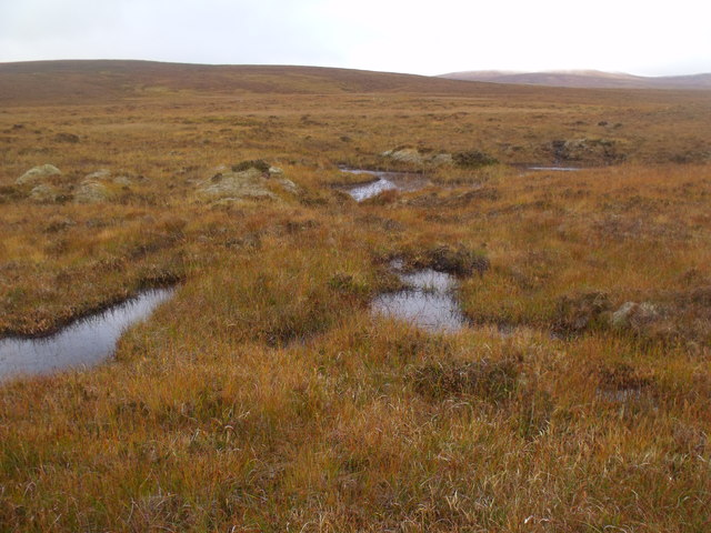 At the head of minor burn course west of Crask Inn, Sutherland
