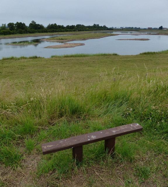 Seat overlooking the wetlands at Freiston Shore