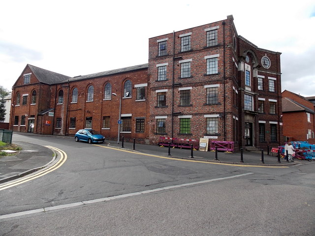 St John Street side of the former Chad Valley Wrekin Toy Works in Wellington