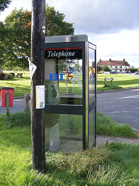 Telephone Box on the A134 Assington Road