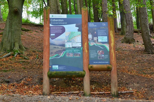 Forestry Commission information board, Pirn Wood Innerleithen