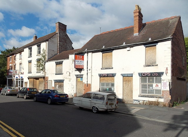 Boarded-up properties in High Street Wellington