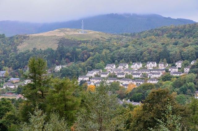 Caerlee Hill from Pirn Hill, Innerleithen
